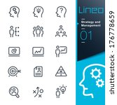 lineo   strategy and management ... | Shutterstock .eps vector #176778659