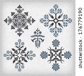 set of vector decorative... | Shutterstock .eps vector #176779190