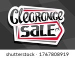 vector logo for clearance sale  ...   Shutterstock .eps vector #1767808919