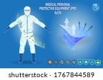 set of medical personal... | Shutterstock .eps vector #1767844589