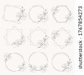 doodle line art magnolia... | Shutterstock .eps vector #1767854273