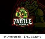 Turtle Mascot Sport Logo Design....