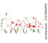 seamless pattern brush with... | Shutterstock . vector #1767896999