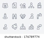 human management icons | Shutterstock .eps vector #176789774
