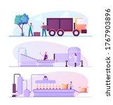 fruit juice factory... | Shutterstock .eps vector #1767903896