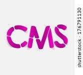 realistic design element  cms | Shutterstock . vector #176791130