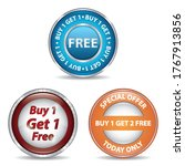 collection of buy one get one... | Shutterstock . vector #1767913856
