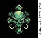 horror skull illustration...   Shutterstock .eps vector #1767917780
