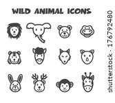 wild animal icons  mono vector... | Shutterstock .eps vector #176792480