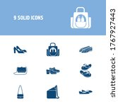 bags icon set and crossbody bag ...