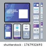 set of modern website landing...