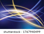 energy lines  glowing waves in... | Shutterstock .eps vector #1767940499