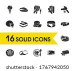 cuisine icons set with nevada ...