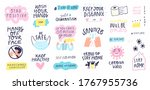 collection of hand drawn... | Shutterstock .eps vector #1767955736