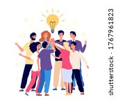 team brainstorming. success... | Shutterstock .eps vector #1767961823