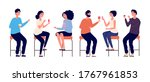 people sitting on bar stools.... | Shutterstock .eps vector #1767961853
