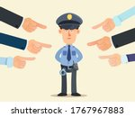 Police Officer Surrounded By...