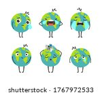 pollution planet character.... | Shutterstock .eps vector #1767972533