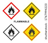 flammable packaging icon. flame ... | Shutterstock .eps vector #1767994223