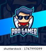 fun pro gamer mascot esport... | Shutterstock .eps vector #1767995099