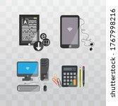 editable vector. computer icon... | Shutterstock .eps vector #1767998216
