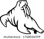 long tusked atlantic or pacific ... | Shutterstock .eps vector #1768036559