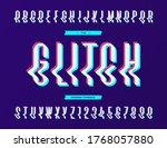 glitch sans serif font.... | Shutterstock . vector #1768057880