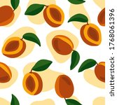 hand drawn seamless pattern... | Shutterstock .eps vector #1768061396