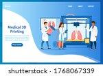 bioprinter concept. scientists... | Shutterstock .eps vector #1768067339