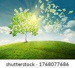 money tree concept illustration ... | Shutterstock . vector #1768077686