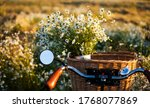 Bike With Basket With Flowers...
