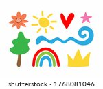 set of different isolated...   Shutterstock .eps vector #1768081046