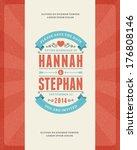 wedding invitation card... | Shutterstock .eps vector #176808146