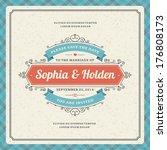 wedding invitation card...   Shutterstock .eps vector #176808173