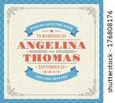 wedding invitation card...   Shutterstock .eps vector #176808176