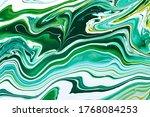 fluid art texture. abstract... | Shutterstock . vector #1768084253
