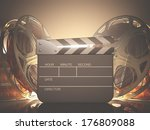 clapboard with back light. your ... | Shutterstock . vector #176809088