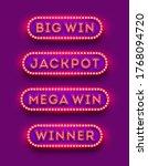 big win  jackpot  mega win ... | Shutterstock .eps vector #1768094720