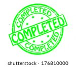 stamp with word completed...   Shutterstock .eps vector #176810000