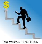 vector silhouette of men with... | Shutterstock .eps vector #176811806