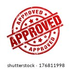 approved stamp | Shutterstock . vector #176811998