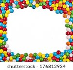 Frame Of Colorful Candy On A...