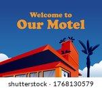 vintage motel illustration... | Shutterstock .eps vector #1768130579