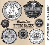 vector set of retro badges for... | Shutterstock .eps vector #176813084