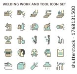 welding work and tool icon i.e. ...   Shutterstock .eps vector #1768131500