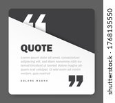 quote form on square paper...   Shutterstock .eps vector #1768135550
