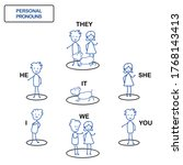 personal pronouns english... | Shutterstock .eps vector #1768143413