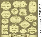 vintage labels set 1 | Shutterstock .eps vector #176814416