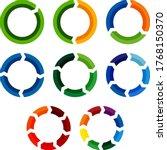 circular arrow diagram or... | Shutterstock .eps vector #1768150370