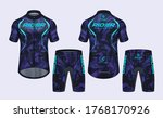 cycling jerseys mockup t shirt... | Shutterstock .eps vector #1768170926